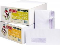 Envelopes DL Sovereign P/Seal (box 500)
