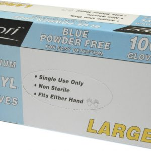 Glove Vinyl Blue Powder Free Large (box 100)