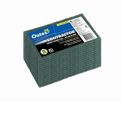 Scourer Pad Green 230 x 150mm (pack 15)