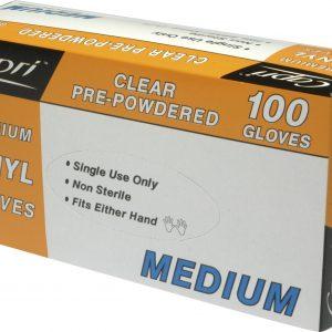 Glove Vinyl Clear Powder Free Medium (box 100)