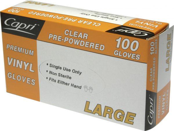 Glove Vinyl Clear X Large (box 100)