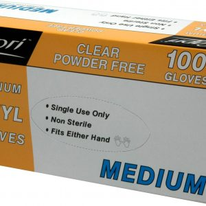Glove Vinyl Clear Medium (box 100)