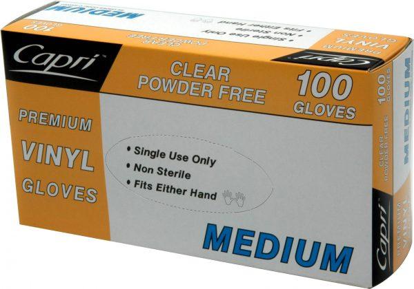 Glove Vinyl Clear Medium (box 100)