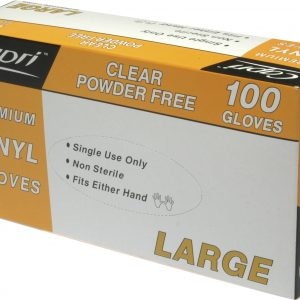 Glove Vinyl Clear Large (box 100)