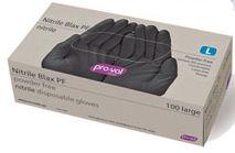 Glove Black Nitrile disposable Large 41081 (box 100)