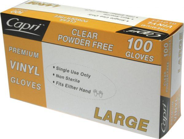 Glove Vinyl Clear Large (carton of 10 packs (1000)