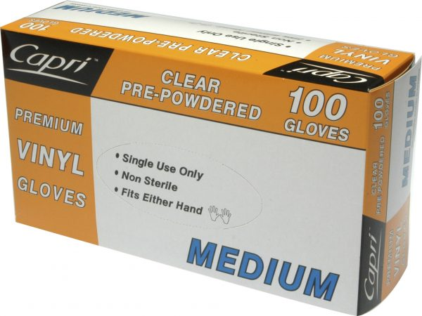 Glove Vinyl Clear Powder Free Medium Carton of 10 Packs (1000)