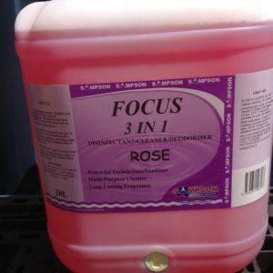 Sampson 20L FOCUS 3 in 1  Disinfectant, Cleaner and Deodoriser ROSE