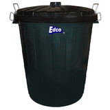 Rubbish Bin 55L Plastic Garbage Bin with Lid Black