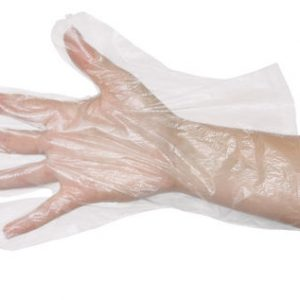 Glove POLY Ambidextrous One Size Disposable (box 500)