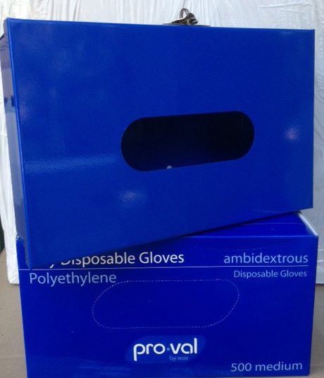 Dispenser for Poly Gloves Fits 500 Pack Lockable BLUE