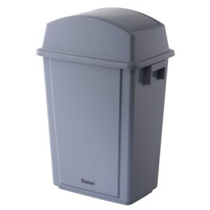 Rubbish Bin Slimline 58 Litre Grey Oates
