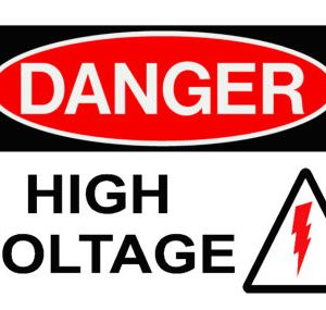 Danger High Voltage Power Board Safety Sticker