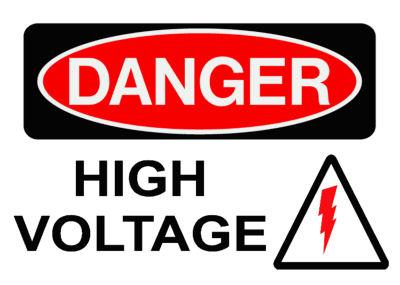 Danger High Voltage Power Board Safety Sticker
