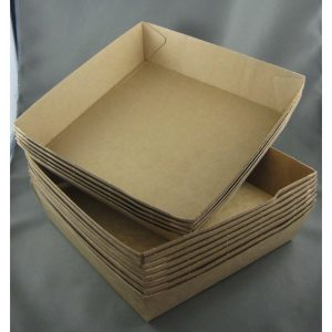 BioPak #2 Brown Board Open Tray (carton 240)