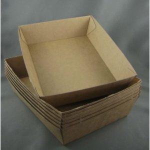 BioPak #3 Brown Board Tray (carton 250)