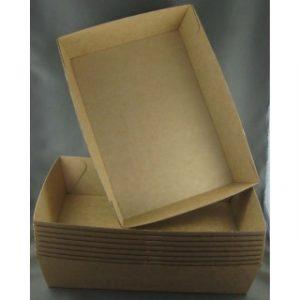 BioPak #5 Brown Board Open Tray (carton 100)