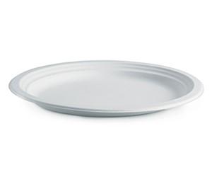 "BioPak 10"" (25cm) Round BioCane Plate White (carton 500)"