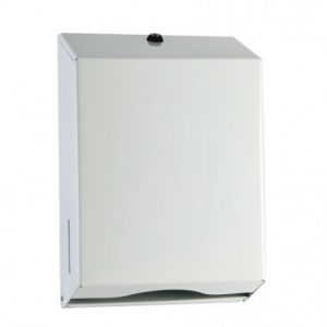 Paper Towel Dispenser Interleave White Metal