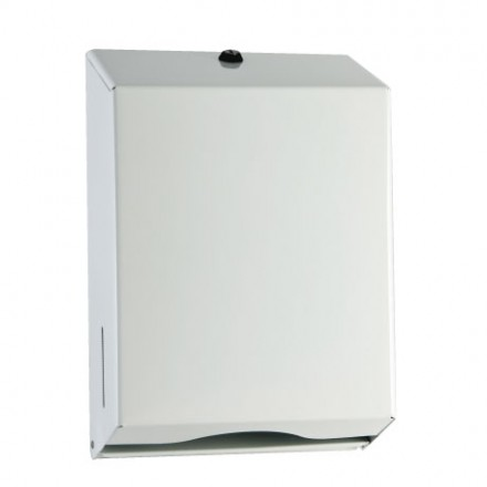 Paper Towel Dispenser Interleave White Metal