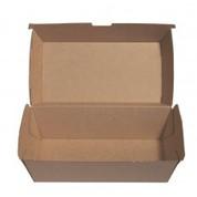 BioPak Medium Snack Box Brown Board (carton 200)