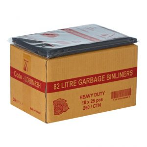 Bin Bag 82L Black (carton 250)