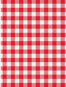 Greaseproof Paper Ginham Red (200 sheets)