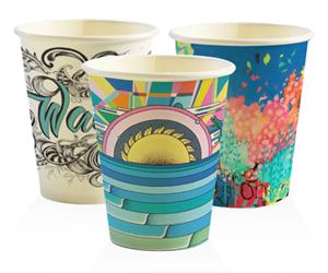 BioPak Cup 12oz Coffee Cup Art Design (carton 1000)