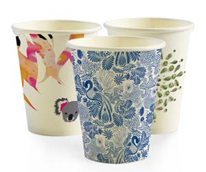 BioPak Cup 8oz Coffee Cup Art Design (carton 1000)