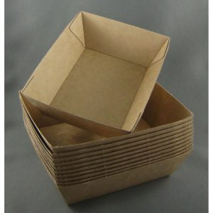 BioPak #1 Brown Board Open Tray (carton 500)