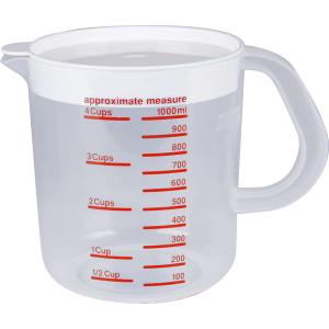 Decor Jug 1L Measuring Red with Lid & Non Slip Base