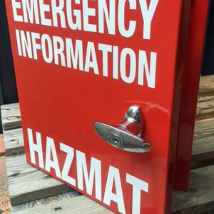 HAZMAT Box with Lock & Keys Hazchem 36x40x10