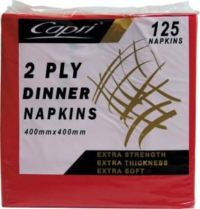 Napkin Red 2 Ply Dinner (carton 1000)