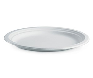 "BioPak 7"" (18cm) Round BioCane Plate White (carton 1000)"