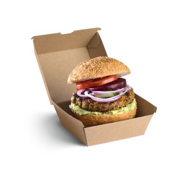 BioPak Brown Board Burger Box (carton 250)