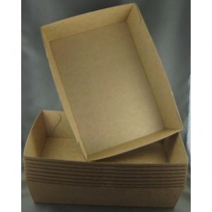 BioPak #4 Brown Board Open Tray (carton 250)
