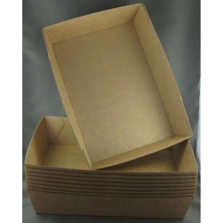 BioPak #4 Brown Board Open Tray (carton 250)