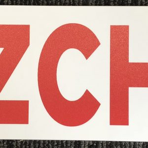 Hazchem Sign 600 x 150mm Poly