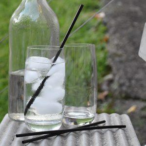 Straws ECO Regular Black Biodegradable  (carton 5000)