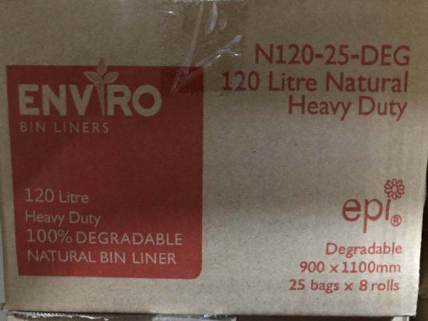 Bin Bags 120L Clear Degradable (carton 200)