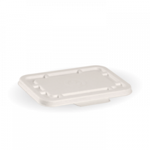 BioPak Takeaway Lid White To Fit 500ml & 600ml (carton 500)
