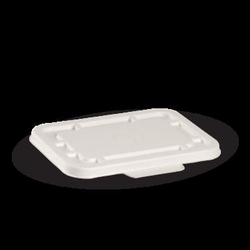 BioPak Takeaway Lid White To Fit 500ml & 600ml (carton 500)