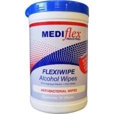 Alcohol Wipes Mediflex Tub 70% Isopropyl (tub 75)