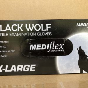 Glove Black Nitrile disposable Extra Large WOLF (box 100)